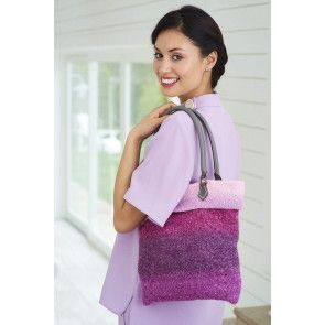 ombre effect knitted shoulder bag