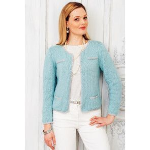 Smart ladies' jacket made from a vintage knitting pattern