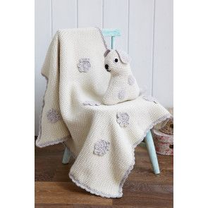Crocheted vintage dog toy and baby blanket