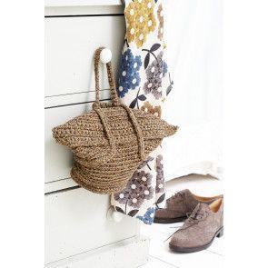 Crochet handbag with foldover fastening in vintage style