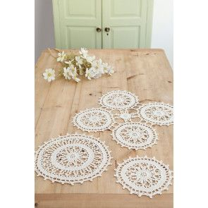 Crocheted vintage table mat
