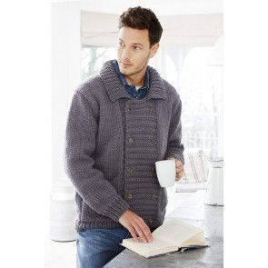 mens double breasted cardigan with a collar