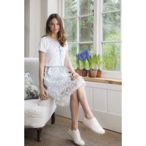 Women's Pretty Mock Lace-Up Top Knitting Pattern