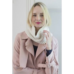 Ladies' knitted cowl scarf style accessory