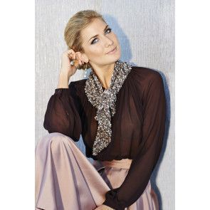 Sparkly knitted evening scarf for ladies