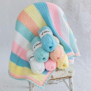Pick and Mix 6 Ball Crochet Blanket Pattern