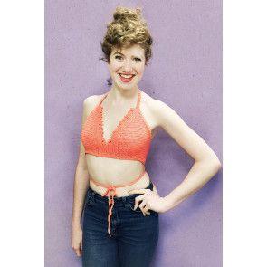 Ladies' crocheted bikini top
