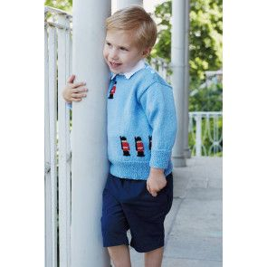 Knitted soldier motif jumper for boys