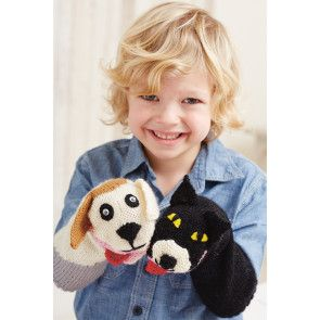 Cat And Dog Sock Puppet Knitting Pattern - The Knitting Network
