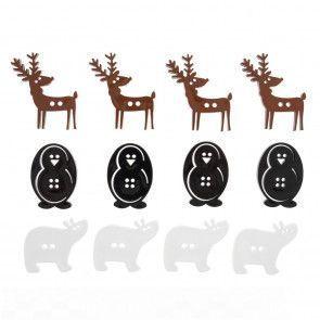 Trimits Buttons - Mixed Size, Festive Animals, Assortment