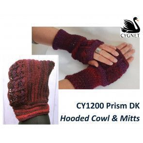 Cowl and Mitts in Cygnet Prism DK (CY1200)