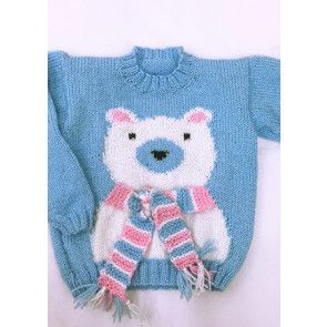 Intarsia Sweater in Cygnet Fairydust DK (CY1089)