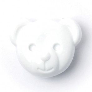 Size 15mm, Teddy Bear, White, Pack of 3
