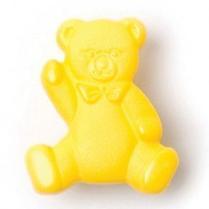 Size 17mm, Teddy Bear, Yellow, Pack of 3