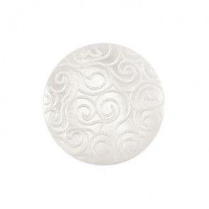 Size 15mm, Swirl Effect, White, Pack of 4
