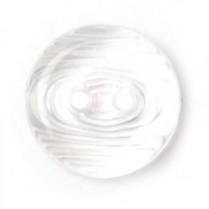 Size 12mm, 2 Hole, Swirl Effect, White, Pack of 5