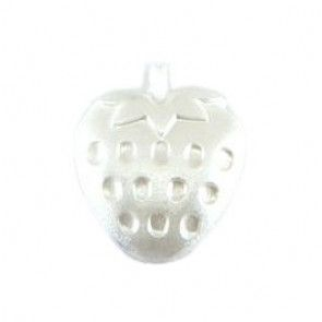 Size 13mm, Strawberry Shaped, White, Pack of 3