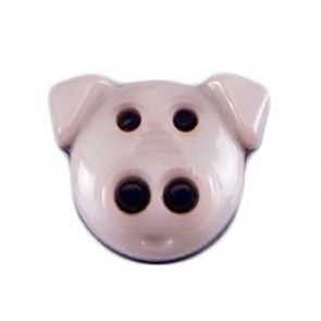 Size 15mm, Pig Shaped, Pink, Pack of 3