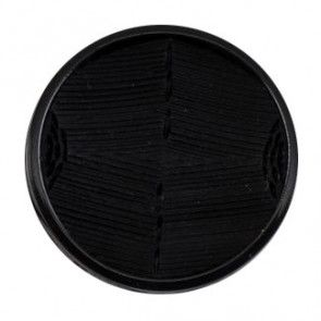 Size 22mm, Flat, Stitch Effect, Black, Pack of 2