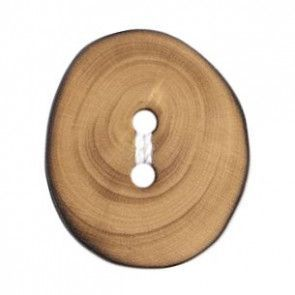 Size 18mm, 2 Hole, Wood, Brown, Pack of 3