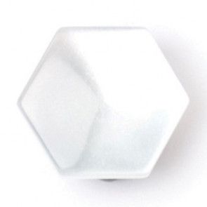 Size 13mm, Hexagonal Shape, Pearl White, Pack of 4
