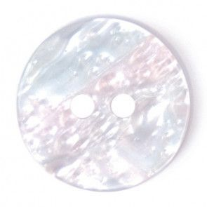 Size 15mm, 2 Hole, Pear Effect, Pearl White, Pack of 4