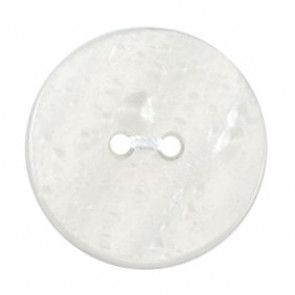 Size 19mm, 2 Hole, Pearl Effect, Pearl White, Pack of 3