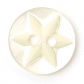 Size 10mm, 2 Hole, Flower Pattern, Pearl Cream, Pack of 8