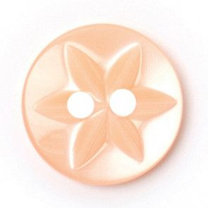 Size 12mm, 2 Hole, Flower Pattern, Pink, Pack of 7