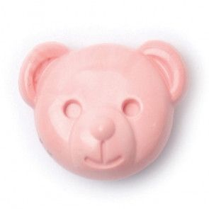 Size 15mm, Shank, Teddy Bear, Pink, Pack of 3