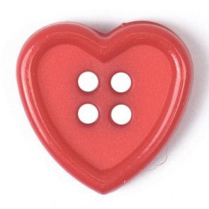Size 15mm, 4 Holes, Red, Pack of 4