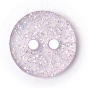 Size 12mm, 2 Hole, Sparkle Effect, Purple, Pack of 5
