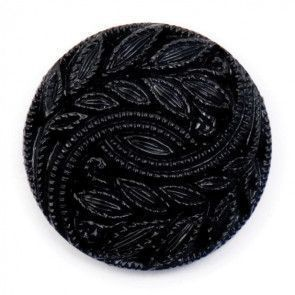Size 20mm, Leaf Swirl Effect, Black, Pack of 3