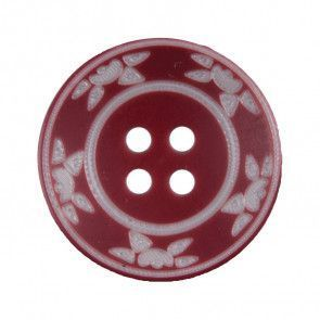 Size 20mm, 4 Hole, Sun Pattern, Brown, Pack of 3