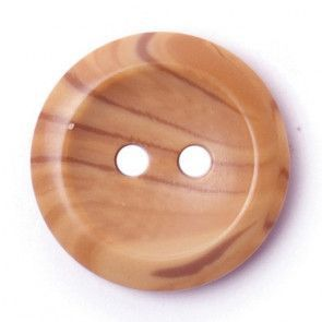 Size 17mm, 2 Hole, Wood Effect, Brown, Pack of 3