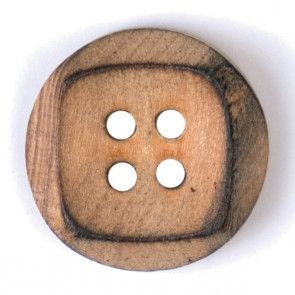 Size 18mm, 4 Hole, Wood, Brown, Pack of 3