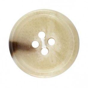 Size 22mm, 4 Hole, Light Tortoieshell Effect, Brown, Pack of 2