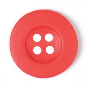 Size 12mm, 4 Hole, Red, Pack of 5