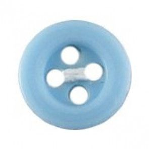 Size 10mm, 4 Hole, Blue, Pack of 6