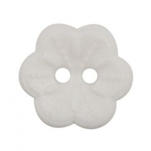 Size 15mm, 2 Hole, White, Pack of 4