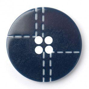 Size 15mm, 4 Hole, Stitch Pattern, Grey, Pack of 4