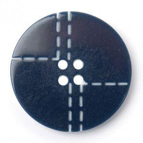 Size 25mm, 4 Hole, Stitch Pattern, Grey, Pack of 2