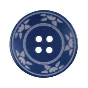 Size 25mm, 4 Hole, Sun Pattern, Blue, Pack of 2
