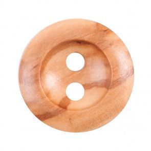 Size 22mm, 2 Hole, Wood, Brown, Pack of 3
