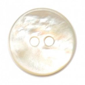 Size 12mm, 2 Hole, Mother Of Pearl Effect, Yellow, Pack of 4