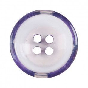 Size 17mm, 4 Hole, Clear /Purple, Pack of 3