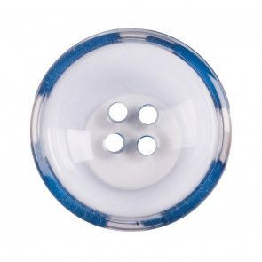 Size 22mm, 4 Hole, Clear/Blue, Pack of 2