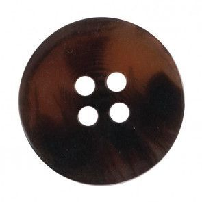 Size 17mm, 4 Hole, Tortoiseshell Effect, Brown, Pack of 3