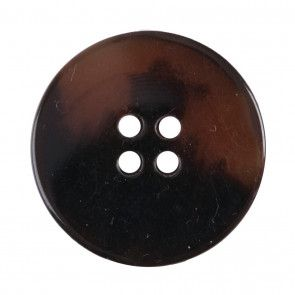 Size 25mm, 4 Hole, Tortoiseshell Effect, Brown, Pack of 2