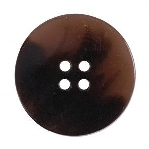 Size 30mm, 4 Hole, Tortoiseshell Effect, Brown, Pack of 1
